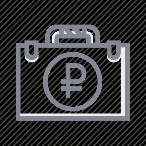 bag, case, handbag, money, office, purse, ruble icon