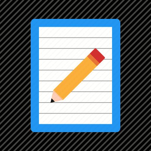 document, paper, post it icon