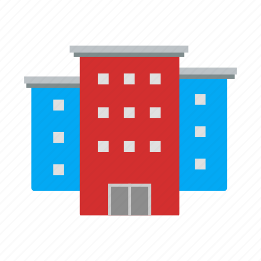 building, buildings, house, office icon