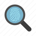 biometric, finger, identification icon