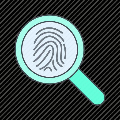biometric, finger, identification icon