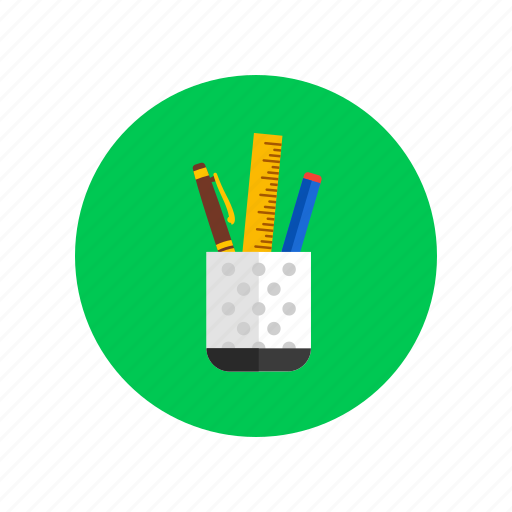 dsign, holders, office tools, pencil, pens icon
