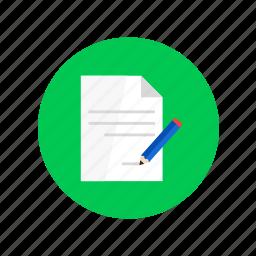 design, pencil, recordings, sheet, writing icon