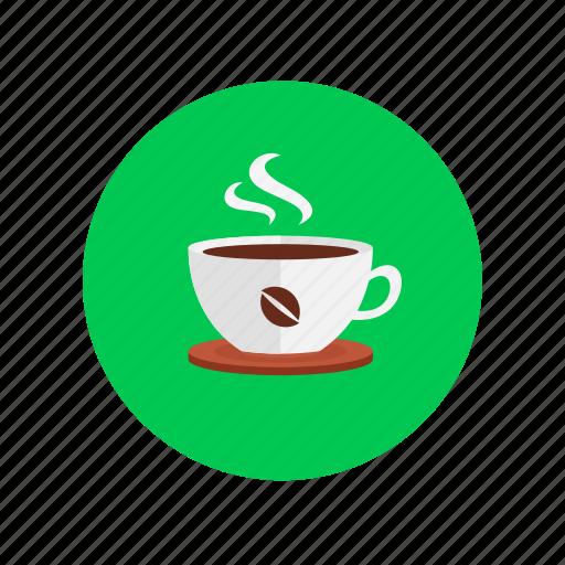 coffee, cup, design, steam, warm icon