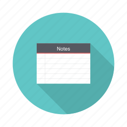 notebook, notes, paper, write icon