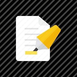 marker, paper icon