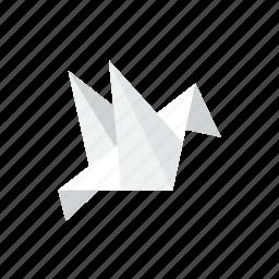 bird, paper icon
