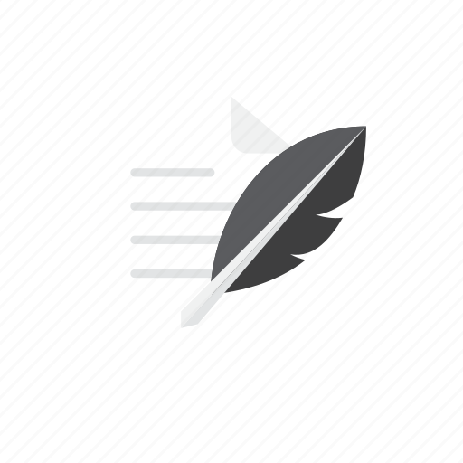 paper, quill icon