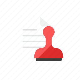 paper, stamp icon