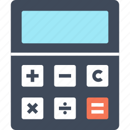 accounting, budget, calculate, calculator, finance, math, mathematics, school icon