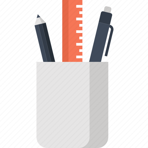 education, office, pen, pencil, ruler, school, supplies, tools icon