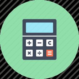accounting, calculate, calculator, finance, math, mathematics, school icon
