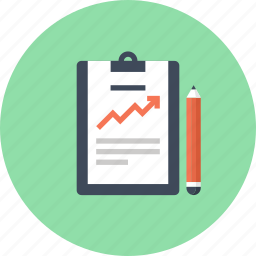 chart, clipboard, document, file, growth, report, statistics icon