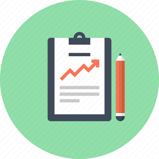 Chart, clipboard, document, file, growth, report, statistics icon - Download on Iconfinder