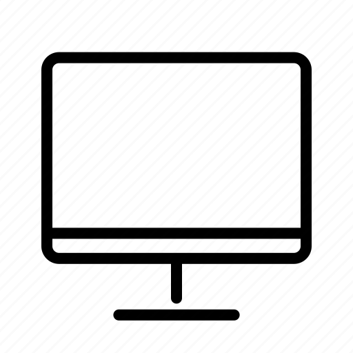 computer, monitor, office, output device, peripheral device icon