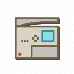 compositor, machine, office, printer, publisher, scan, typographer icon
