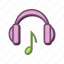 beat, headphones, headset, listen, music, note icon