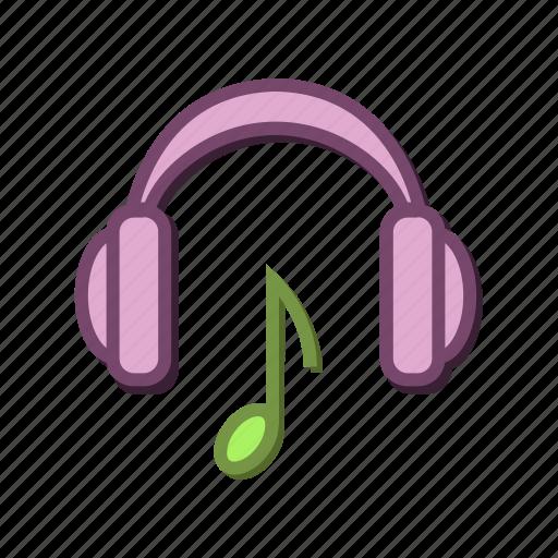 beat, headphones, headset, listen, music, note icon
