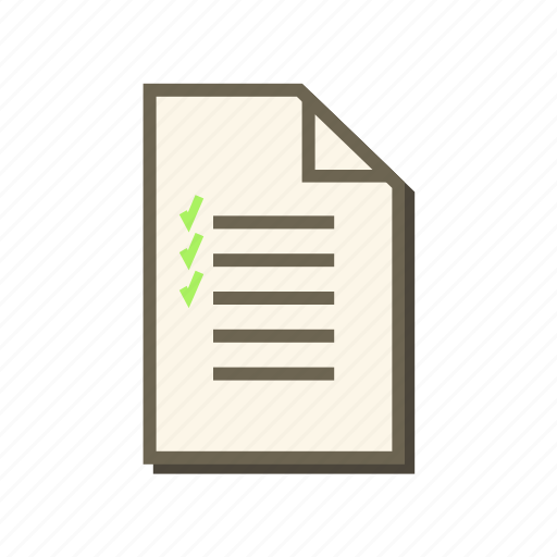 file, list, menu, note, paper, report, to do list icon