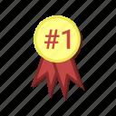 achievement, badge, gold, medal, medallion, reward, token icon