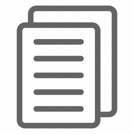 documents, files, paper icon