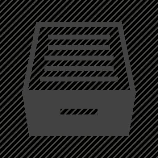 cabinet, drawer, file, filing, furniture, office, storage icon