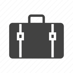 briefcase, business, case, holding, success, walk, walking icon