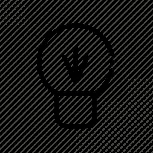 bulb, idea, technology icon