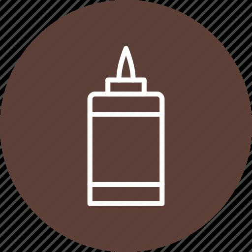 fluid, glue, office icon