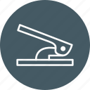 hole, puncher, stationery icon