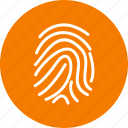 biometric, finger, print icon