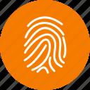 biometric, finger, identification, print icon