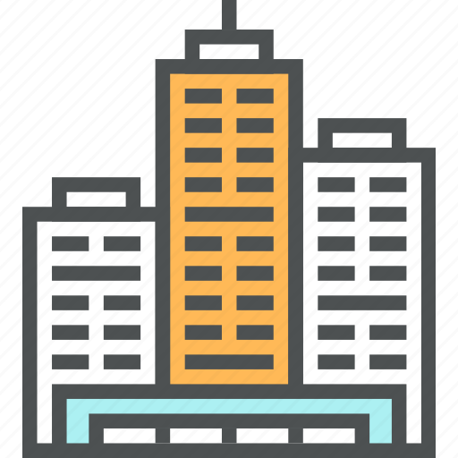 architecture, building, business, city, office, property, skyscraper icon