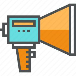 bullhorn, information, loudspeaker, marketing, megaphone, promotion, rupor, share icon