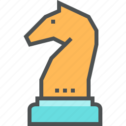 business, chess, figure, game, horse, strategy, tactic icon