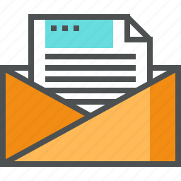 document, email, envelope, file, mail, message, open, paper icon