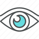 eye, eyesight, human, look, looking, sight, vision icon