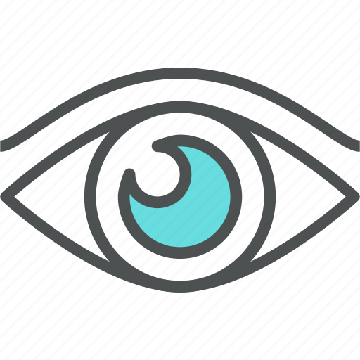 eye, eyesight, human, look, looking, sight, vision icon