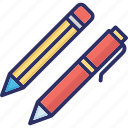 mechanical pencils, pencils, stationary, writing, writing pencils icon