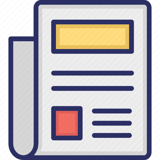 Business document, document, folded paper, page, writing icon - Download on Iconfinder