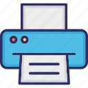 facsimile, fax, hardware, output device, printer icon