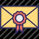 achievement certificate, award certificate, certificate envelope, medal certificate, political certificate icon