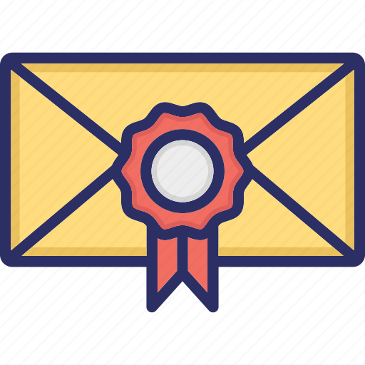 Achievement certificate, award certificate, certificate envelope, medal certificate, political certificate icon - Download on Iconfinder