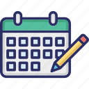 calendar, monthly calendar, planner, schedule, yearly calendar icon