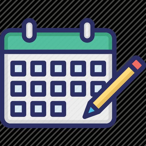 Calendar, monthly calendar, planner, schedule, yearly calendar icon - Download on Iconfinder