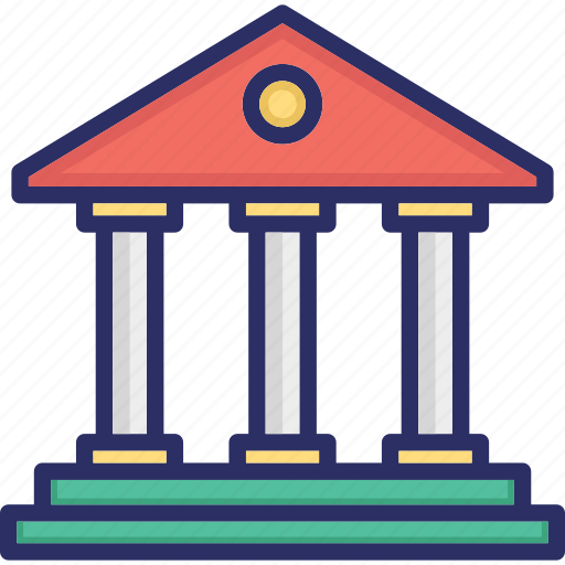 bank, books library, financial institute, institute, public library icon
