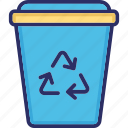 recycle bin, recycle container, recycling can, software bin, software trash
