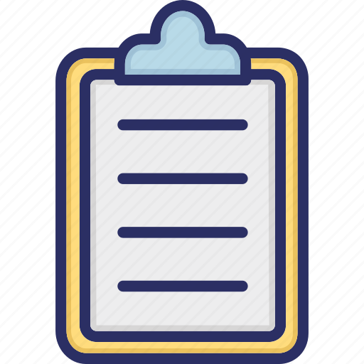 clipboard, file, paper board, stationary item, writing board icon