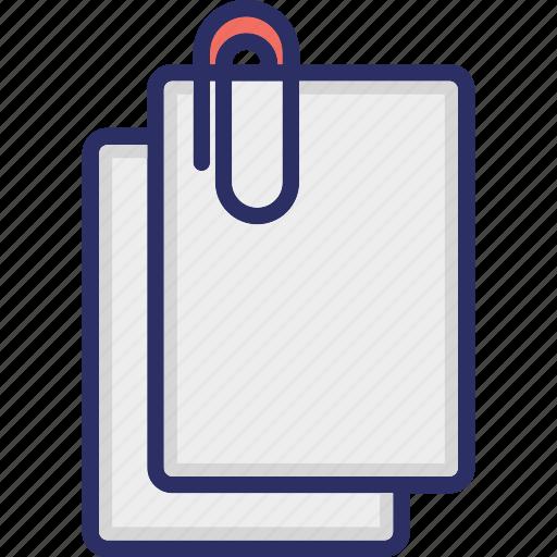 file binder, file clipper, file holder, office folder, stationary icon