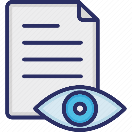 Document monitoring, material, paper reading, paper review, reading, readonly paper icon - Download on Iconfinder
